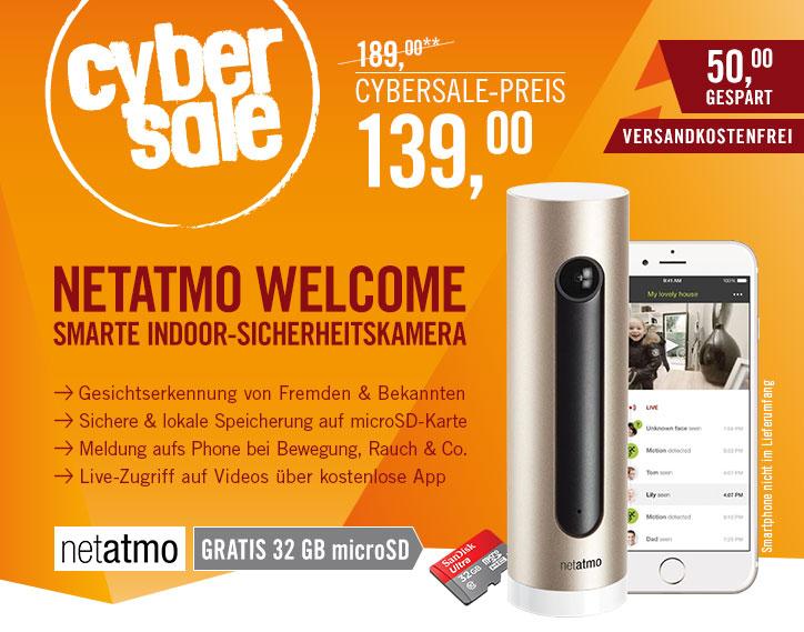Netatmo Welcome Sicherheitskamera mit 32GB SanDisk Ultra für 139€ @ Cyberport