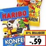 Haribo Fruchtgummis oder Lakritz für nur 0,59€ bei [Kaufland bundesweit]