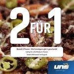 [lokal] UNO Pizza 2 für 1 Aktion im August - jeden Mittwoch die 2. Medium Pizza gratis