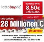 (Qipu) Lottobay: 8,50€ Cashback für Neukunden