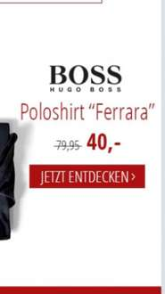 2x HUGO BOSS Poloshirt 75,95 Euro inkl. Versand mit 10€ Newsletter --> 1 Poloshirt 37,97 €, 5 Farben, noch alle Größen 75,95 €