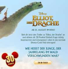 Disney Movies and More: 30 Punkte durch Elliot der Drache Trailerquiz