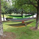Hängematte aus Fallschirmtuch für Camping und den Garten