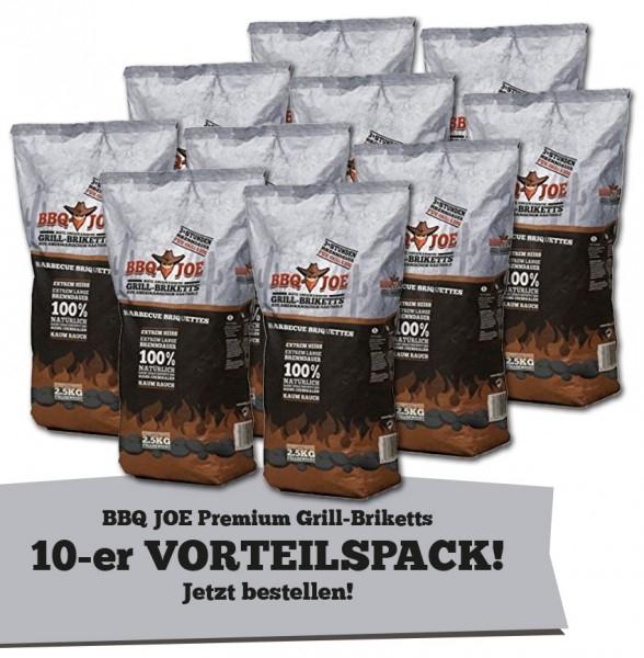 BBQ JOE: Best American Hartholz Briketts 10 x 2,5 kg Vorteilspack (25 kg gesamt) für 24,99€ bei Comtech