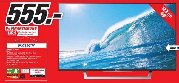 (Lokal) SONY KDL-49WD755 LED TV, Full-HD,SMART TV für 555€ @ Mediamarkt Bielefeld