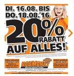 Globus Baumarkt Ingolstadt 20% auf (fast) Alles vom 16.8.-18.8.