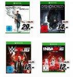 [Mediamarkt] Quantum Break (Xbox One) für 29,-€**Dishonored (Definitive Edition)(XB1) für 14,-€***WWE 2K16 (Xbox One) oder NBA 2K16 (Xbox One) für je 12,-€ Bei Abholung