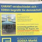 Schließung Supermarkt GARANT / SONDER-RABATT-AKTION