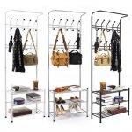 ebay: 190cm Garderobenständer mit Schuhablagen
