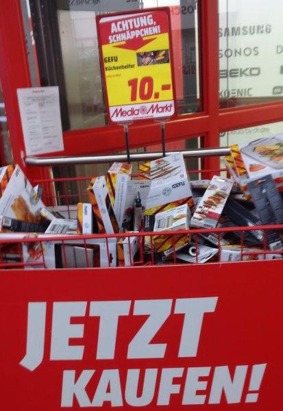 [lokal] [Media Markt Berlin Steglitz] Gefu Küchenhelfer und Grill-Utensilien für 10 Euro bis zu 66% günstiger