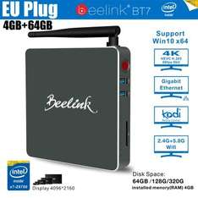Beelink BT7 Mini PC (Intel x7-Z8700, 4GB RAM, 64GB eMMC [mSATA frei], HDMI + 2x USB 3.0 + BT 4.0 + Gb LAN, Windows 10) für 144,69€ [Gearbest]