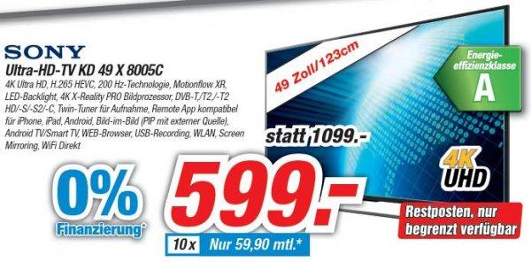 [lokal IKS Meckenheim] Sony KD-49X8005C für 599,-€