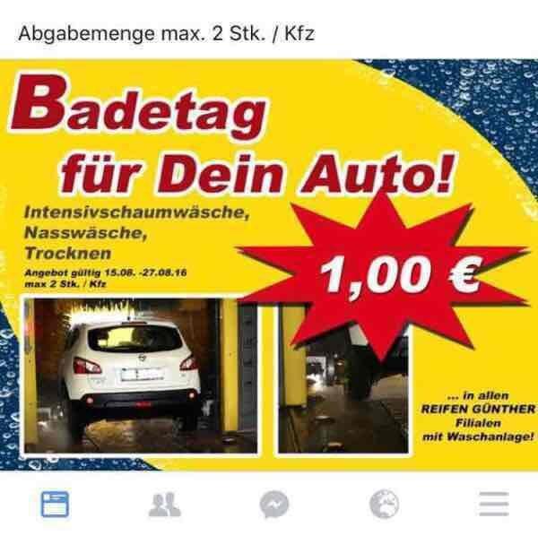 Autowäsche für 1,- €