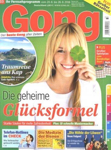 Alternative zur TV Movie: Fernsehzeitschrift GONG für 114,50€ mit 115€ Bestchoice Gutschein für 13 Monate bei Bankeinzug