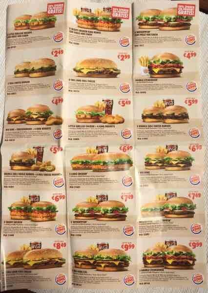 [Burger King] 2 Whopper zum Preis von einem, uvw Coupons [BUNDESWEIT]