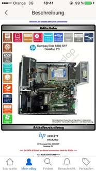 HP Compaq Elite 8300 SFF mit Win7 Pro und i5 der 3. Generation