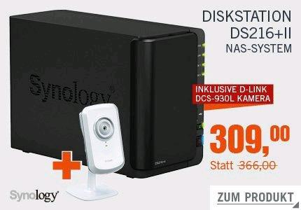 Synology Diskstation DS216+II NAS System 2-Bay inkl. D-Link DCS-930L Kamera [Cyberdeal]