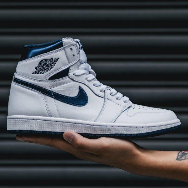 Nike Air Jordan 1 Retro High OG in White / Navy für 79 € in 41 bis 47,5 [SUPPA]