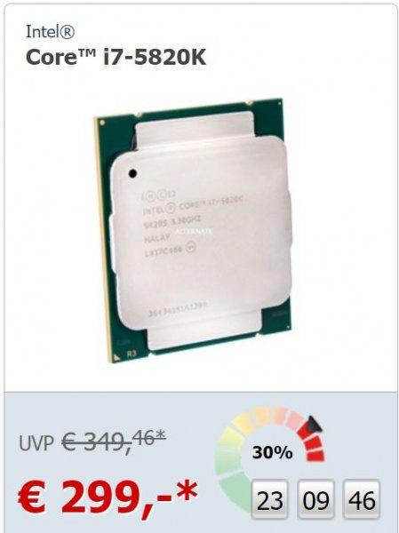 Intel® Core™ i7-5820K für 303,95€