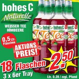[WIGLO MV/NI/SA] 18x Hohes C Naturelle Weißer Tee + Himbeere 0,5l für nur 2,50€ (=0,14€/Stück)