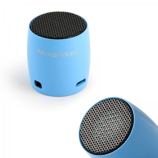 (ebay WOW) Nano Bluetooth Lautsprecher Soundstation 2W schwarz, blau, pink MusicMan BT-X7 für € 11,99