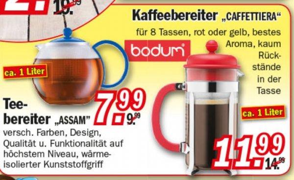 [Zimmermann] Bodum Caffettiera 1L für 11,99€ und Assam 1L für 7,99€