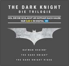The Dark Knight Trilogie in HD für 9,99€ (kaufen) [Wuaki]