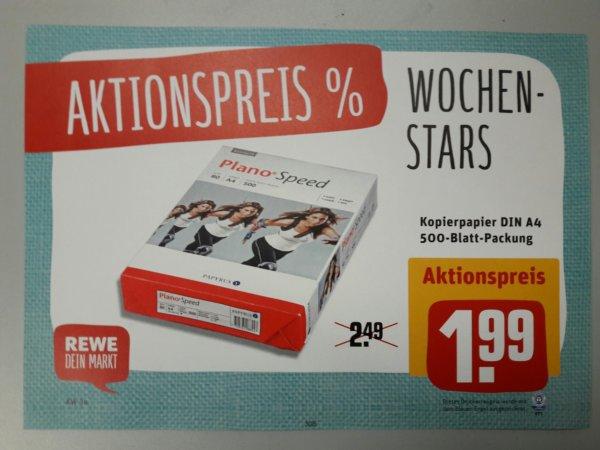 *Regional* Rewe-Center Hessen (Marktliste in Beschreibung):  Kopierpapier 80gr. 500 Blatt nur 1,99 EUR