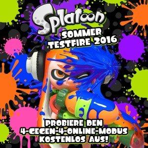"""""""Splatoon"""" Sommer Testfire 2016 - bis 01.09. kostenlos spielen [Wii U]"""