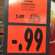 [LOKAL] Kaufland Hamburg Friedrich-Ebert-Damm MONSTER Energy 0,99€