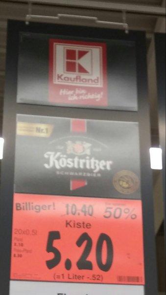 [Kaufland evtl. Bundesweit] Köstritzer Schwarzbier 20 x 0,5 Liter für 5,20