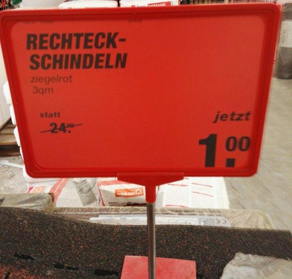 (Lokal) Rechteck Schindeln, rot, Pro Paket 1€ (24 Stück)