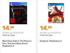Metal Gear Solid 5: The Phantom Pain - Day One Edition Action (PS4) oder Deadpool (PS4) für je 14,99€ Versandkostenfrei***Call of Duty: Ghosts (Xbox One) für 7,99€ Versandkostenfrei [Saturn]