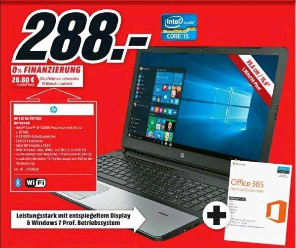 [Lokal Berlin MM am Alexa] HP 350 G2 P5T11ES Notebook 15.6 Zoll