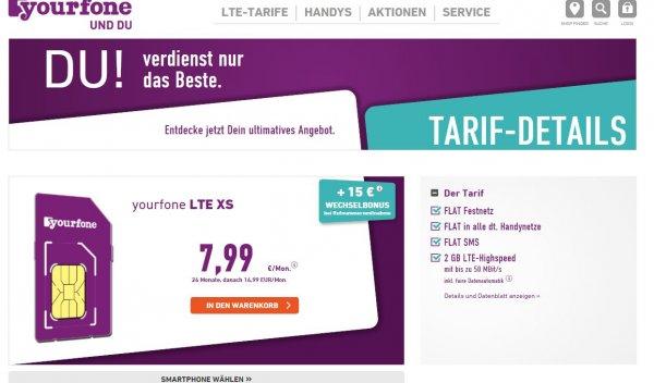 Yourfone Allnetflat, 2GB LTE