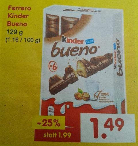 Ferrero Kinder Bueno für