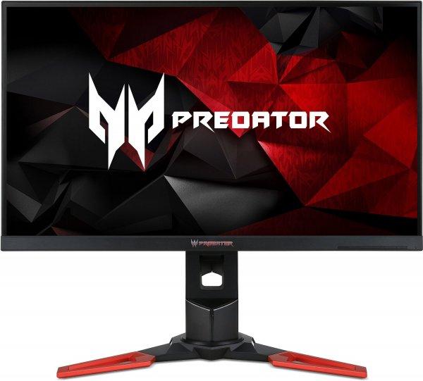 Acer Predator XB1 (Predator XB271HUAbmiprz) 69 cm (27 Zoll) Monitor (HDMI, USB 3.0, DisplayPort, 1ms Reaktionszeit, bis zu 165 Hz, 2560 x 1440, EEK B, höhenverstellbar, Pivot) schwarz/rot