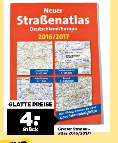 (netto)  straßenatlas 2016 / 20017 Deutschland und Europa