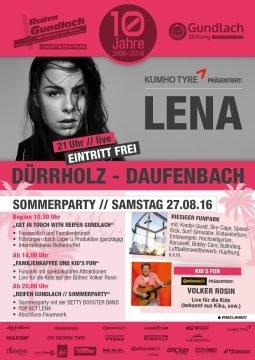 LENA Konzert, Volker Rosin uvm. bei Reifen Gundlach, 27.08.16 [56307 Daufenbach]
