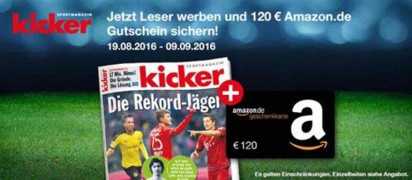 Kicker abo für effektiv 102 €