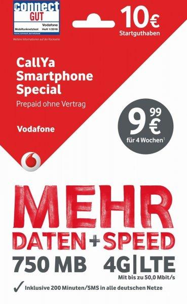 CallYa Smartphone Special Perpaidkarte inkl. 10€ Startguthaben / 850MB EU-Roaming [eBay]