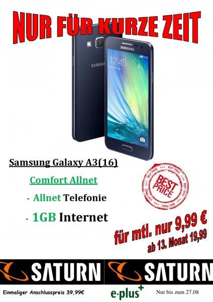 [Lokal Bocholt] Saturn Galaxy A3 Vertrag 14,99€~/Monat E+ Mobilcom