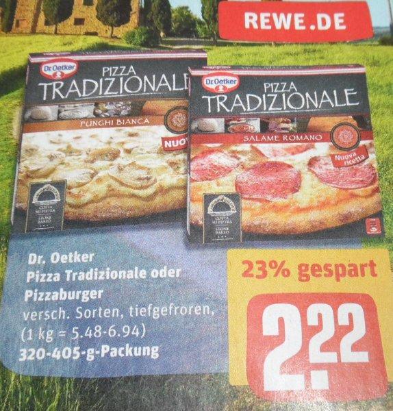 REWE bundesweit? Dr. Oetker Pizza Tradizionale 2,22€ minus 0,50€ Rabatt Coupon = 1,72€