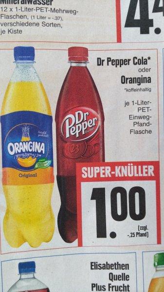 Dr. Pepper Cola / Orangina Limonade offline / lokal / regional Edeka Fulda Petersberg