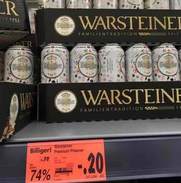 Warsteiner EM-Edition bei Kaufland Berlin Schöneweide