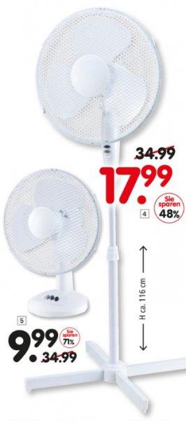 [SEGMÜLLER WEITERSTADT] Tischventilator 36x45cm für 9,99€ // Standventilator 58x116cm für 17,99€