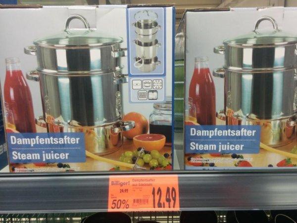 [lokal?] Dampfentsafter aus Edelstahl bei Kaufland 58119 Hagen
