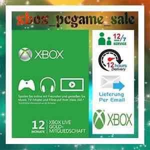 [eBay] Xbox Live Gold 12 Monate