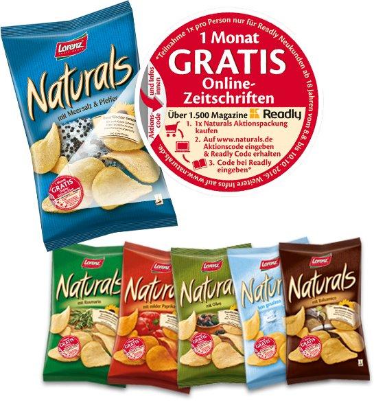 Lorenz Naturals Chips Aktionspackung kaufen und 1 Monat Readly Zugang erhalten (keine Kündigung erforderlich!)