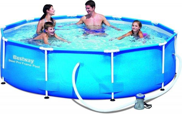 Bestway Frame Pool Steel Pro Set, blau, 305 x 76 cm für 59,99 €, 366 x 76 cm für 71 € @ amazon